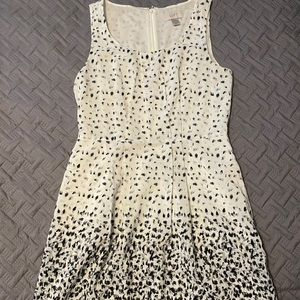LOFT Black & Gray Speckle Dress